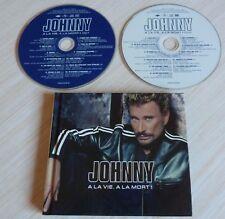 2 CD DIGIBOOK ALBUM A LA VIE A LA MORT JOHNNY HALLYDAY 23 TITRES 2002