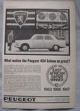 1967 Peugeot 404 Original advert No.1