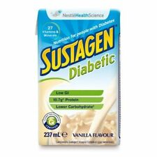 SUSTAGEN DIABETIC FORMULA VANILLA 237ML X 24 PK LOW GI AND LOWER CARBOHYDRATES