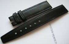 GENUINE OMEGA BLACK LEATHER WATCH STRAP BAND 17 x 14 mm NEW