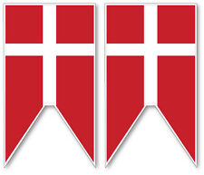 2 X danés/Dinamarca naval Ensign-Militar Bandera Vinilo Coche, Furgoneta Etiqueta Engomada fresco