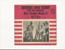 """George and Teddy and Condors on Philips """"So I Cry"""" Northern Soul Picture Sleeve!"""