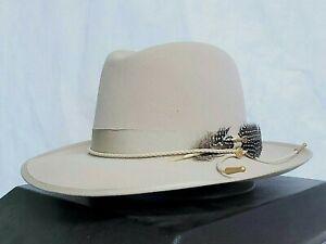 STETSON ONE TWO THREE FUR FELT CENTERDENT HAT