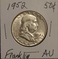 1952 FRANKLIN HALF DOLLAR - ABOUT UNCIRCULATED