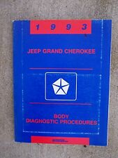 1993 Jeep Grand Cherokee Body Diagnostic Procedures Manual Chrysler Alarm  U