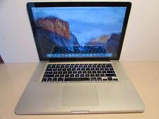 """Apple MacBookPro C2D 2.4GHz 8GB 15.4"""" 500GB OS X El Capitan MB470LL A1286"""