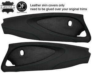 BLACK STITCH 2X FULL DOOR CARD NAPPA & SUEDE COVERS FOR LOTUS ELISE S2 STYLE 2