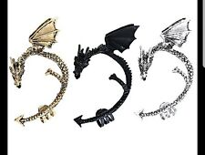 3 PCS Punk Gothic Temptation Metal Wrap Fly Dragon Ear Cuff Clip Earrings