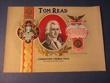 Original Old Antique - Tom Read - Inner Cigar Label - Navy Officer