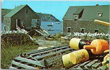 Lobster Pots and Buoys on Maine Coast