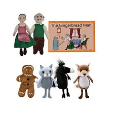 The Puppet Company - Traditional Story Sets - The Gingerbread Man Finger Puppet
