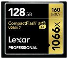 New Lexar Pro UDMA 7 Compact Flash 128GB Memory Card - Speed Up To 160MB/s Read