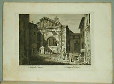 1818c.Inc/Rame.ROMA:PORTICO DI OTTAVIA-PORTIQUE D'OCTAVIE.par NIBBY-Parboni-Ruga