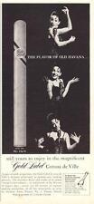 """1964 Gold Label PRINT AD Cigars Cuban """"Corona de Ville""""  Great Cave ART Decor"""