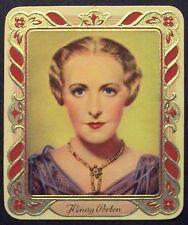 Henny Porten 1936 Garbaty Passion Film Star Embossed Cigarette Card #149