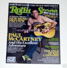 Paul McCartney Autograph Signed Rolling Stone Beatles PROOF PSA DNA Authentic!