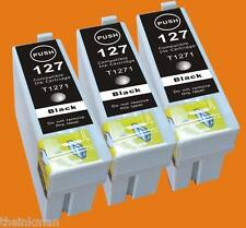 T127 127 126 Ink 3pk for  EPSON WORKFORCE WF 7510 & WORKFORCE WF-7520   NON-OEM
