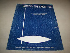 Worthy The Lamb Sheet Music William & Gloria Gaither 1974