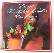 """8 x 33T Coffret LES 150 PLUS BELLES MELODIES DU MONDE Vinyles LP 12"""" CLASSIQUES"""
