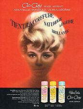 PUBLICITE ADVERTISING  1963   HELEN CURTIS  laque GO GAY