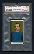 PSA 6 1910 C59 LaCROSSE CARD #34 D. PHALEN