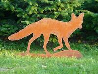 Edelrost Fuchs, Gartendekoration, Eisen, Metall, Rost, Gartendeko, Tier, Säule