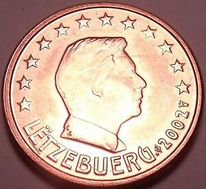 Gem Unc 2002 Luxembourg 2 Euro Cents~See All Our Unc Coins~Free Shipping