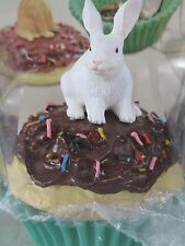 RABBIT WHITE ~ CUPCAKE TRINKET BOX