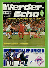 BL 89/90 SV Werder Bremen - Bayer 04 Leverkusen