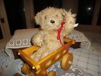 Antique 1960s Brown Shaggy Plush Teddy  L1215
