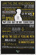 BREAKING BAD TYPOGRAPHIC 24x36 POSTER TV SERIES TV SHOW AMC WALTER WHITE SAUL!!!