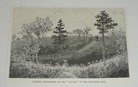 1894 magazine engraving ~ CRATER OF EXPLODED MINE Petersburg, Virginia