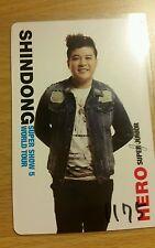 Super junior shindong hero japan jp official photocard Kpop k-pop u.s seller