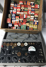 Tested Working!  Vtg I-177-B Tube Tester US ARMY Daven Co. + Electronic Tube Lot