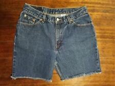 Women's Vintage Levi's 517 Slim Fit Blue Denim Cut-Off Shorts - Size 13 M Junior