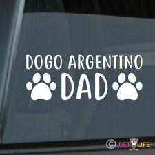 Dogo Argentino Dad Sticker Die Cut Vinyl - argentine mastiff dog
