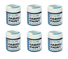 DYLON Fabric Paint Set - Turquoise Paint - Pack of 6
