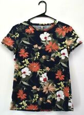 Banana Republic Women's XS Short Sleeve Crew Neck Floral Print Casual T-Shirt