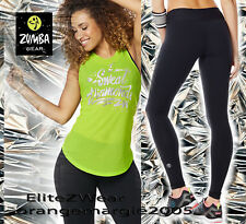 ZUMBA 2Pc.SET! I Sweat Diamonds Tank Top w Silver Foil + Perfect Long Leggings