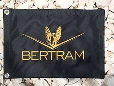 """Bertram Boat black 12""""x18"""" Embroidered flag"""