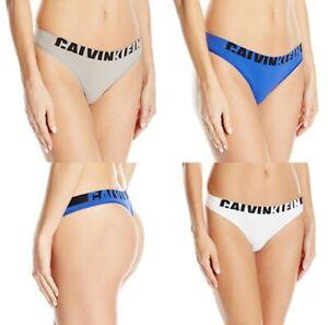 Calvin Klein Women's Seamless Logo Thong Panty QF1568 Gray Size XS