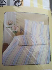 Meradiso double Bedlinen Bedding duvet Set Pure 100% cotton striped renforce oko