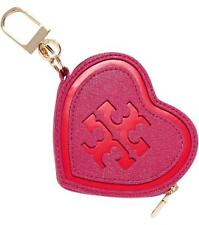 TORY BURCH Two-tone smooth and textured-leather key wallet coin purse wallet