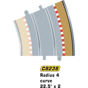 * Scalextric C8238 1 pack of Radius 4 Curve Outer Borders and Barriers 22.5 x 4