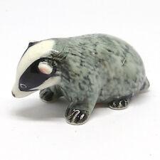 Handicraft Gift Miniature Collectible Ceramic Badger Figurine Animal Zoo
