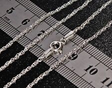 SOLID STERLING SILVER (925) 18 inch PRINCE OF WALES CHAIN 2.3g Strong & Durable