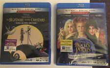 Nightmare Before Christmas & Hocus Pocus Blu-Ray New Sealed