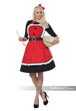 California Costumes Mrs Claus Apron Christmas Xmas Adult Womens Costume 01498