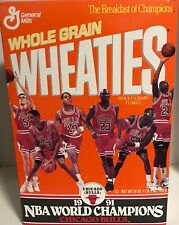 Chicago Bulls Jordan Paxson Pippen Wheaties Box 1991 MJ