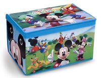 Disney Mickey Mouse Children Fabric Toy Box Organizer Kids Bedroom Toys Storage